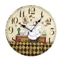 Часы кухонные, коллажи