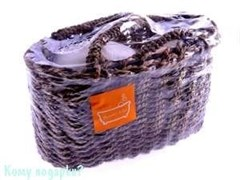 Набор для ванной в плетеной корзине