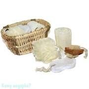 Набор для ванной в плетеной корзине «NATURAL»