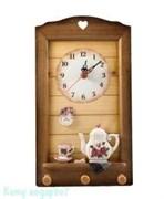 Коллаж-часы «Цветы», 23х34х7 см