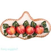 Вешалка для кухонных полотенец «Яблоки», h=28 см