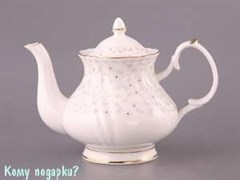 Заварочный чайник, 1000 мл, белый с узором
