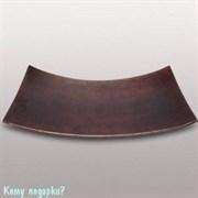 Тарелка декоративная, 54х24 см, коричневая с полосками