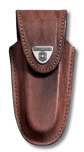 Кожаный чехол на ремень для ножа 111 мм (толщиной 2-3 уровня) Victorinox 4.0537 - фото 100228