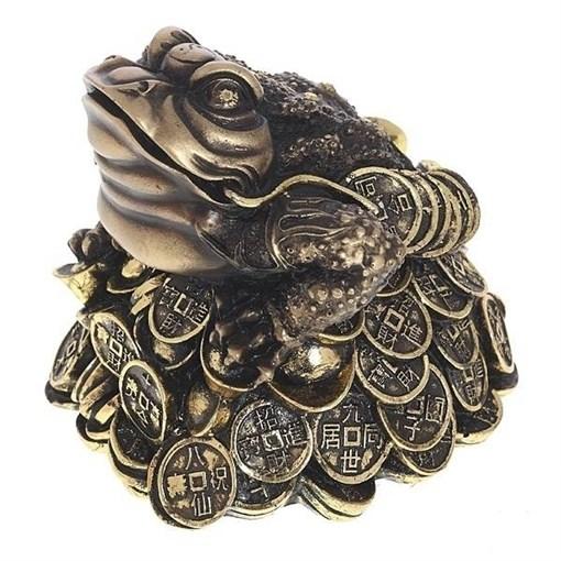 Фигура декоративная Лягушка цвет: золото L14W15H14см - фото 102796