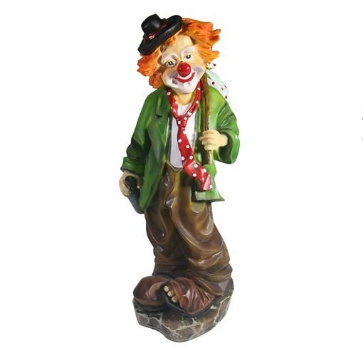 Фигура декоративная Клоун с бутылкой L13W13H36см - фото 102803