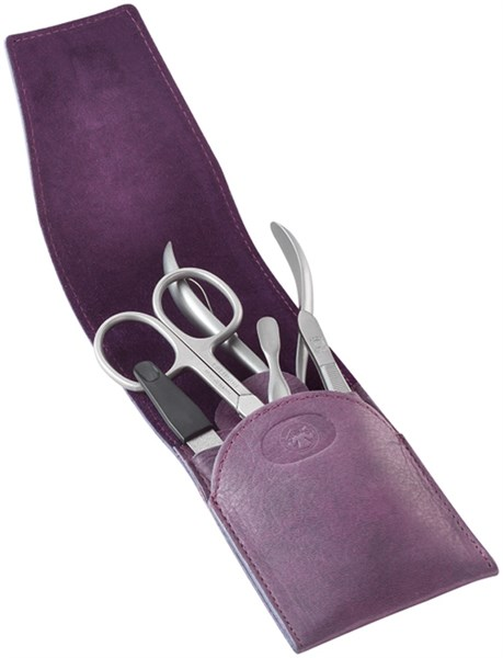 Маникюрный набор Дово (Dovo), 5пр. Футляр: натур.кожа (вол), цвет фиолетовый - фото 102961
