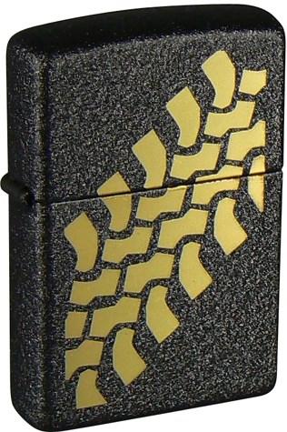 Зажигалка Black Crackle Зиппо (Zippo) 236 Tire Tracks - фото 102992