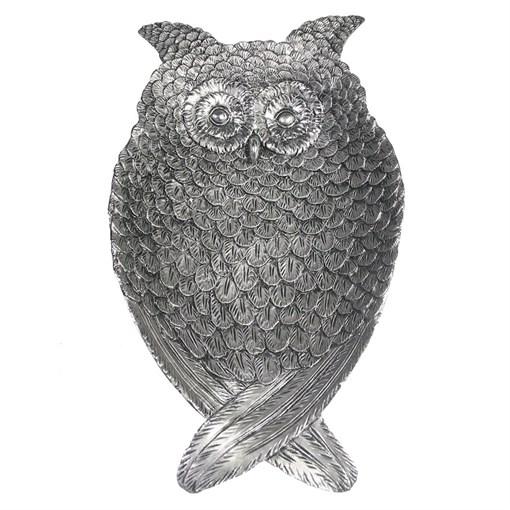 Подставка под мелочи Филин цвет: серебро L29W17H4см - фото 106861