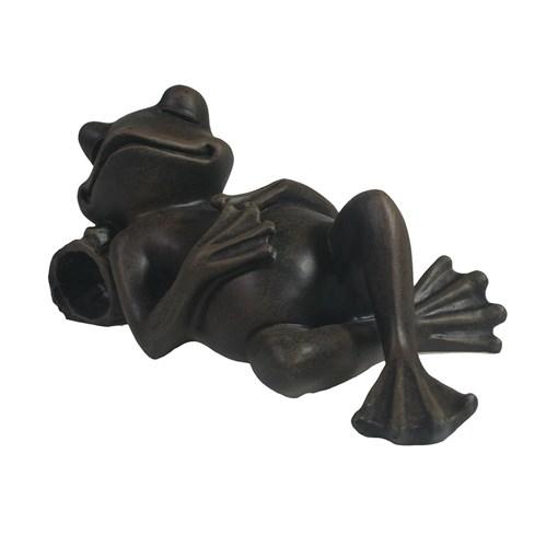 Фигура декоративная Лягушка отдыхает цвет: черный L18W9H9см - фото 106874