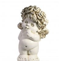 Фигура декоративная Ангел стоит цвет: антик L21.5W18.5H33см - фото 112209