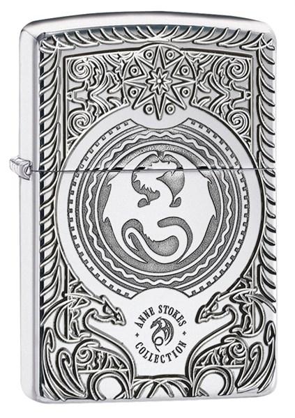Зажигалка Зиппо (Zippo) Anne Stokes Pocket Watch  28962 - фото 172518