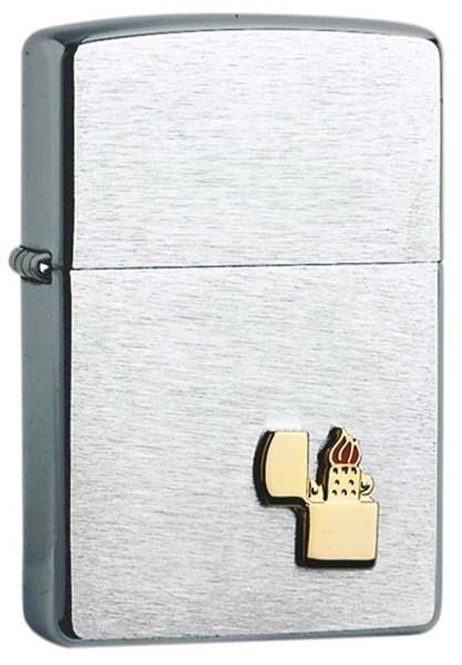 Зажигалка ZIPPO, с покрытием Brushed Chrome, латунь/сталь, серебристая, матовая, 36x12x56 мм - фото 184677