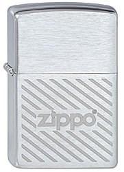 Зажигалка Зиппо (Zippo) Stripes, с покрытием Brushed Chrome, латунь/сталь, серебристая, матовая, 36x12x56 мм - фото 184681