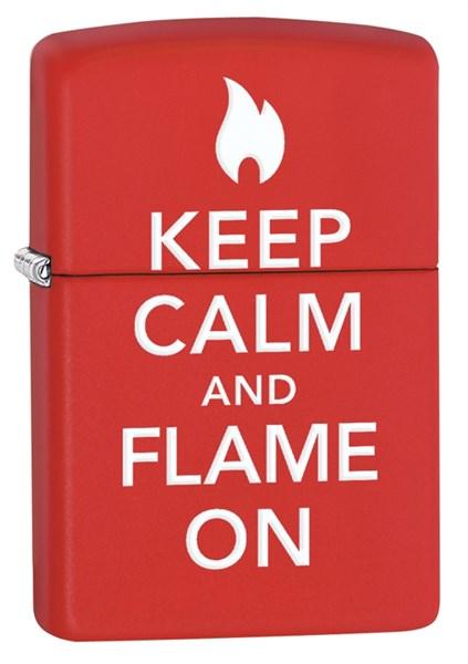 Зажигалка ZIPPO Classic с покрытием Red Matte, латунь/сталь, красная, матовая, 36x12x56 мм - фото 184683