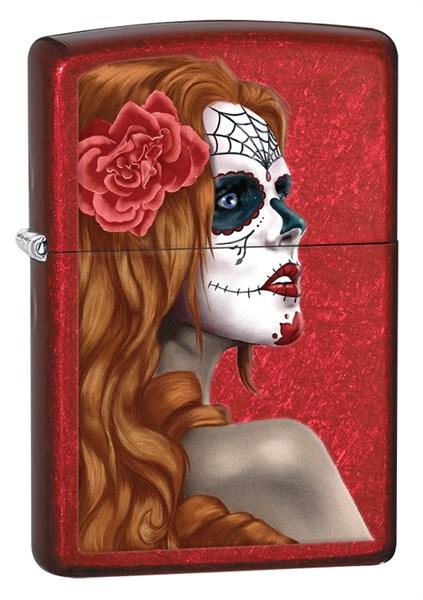 Зажигалка Зиппо (Zippo) Classic с покрытием Candy Apple Red™, латунь/сталь, красная, глянцевая, 36x12x56 мм - фото 184685