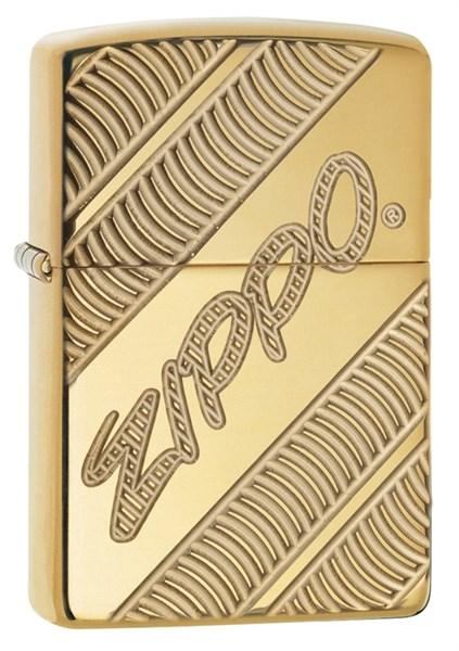 Зажигалка ZIPPO Armor® с покрытием High Polish Brass, латунь/сталь, золотистая, 36x12x56 мм - фото 184695