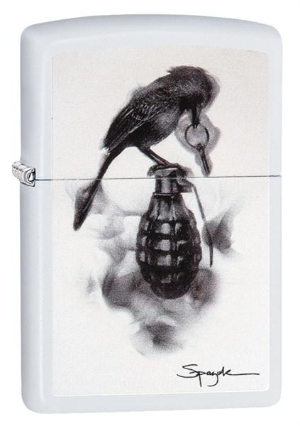 Зажигалка Зиппо (Zippo) Classic с покрытием White Matte, латунь/сталь, белая, матовая, 36x12x56 мм - фото 184709