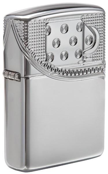 Зажигалка Зиппо (Zippo) Armor® с покрытием High Polish Chrome, латунь/сталь, серебристая, 36x12x56 мм - фото 184746