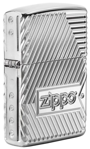 Зажигалка ZIPPO Armor® с покрытием High Polish Chrome, латунь/сталь, серебристая, 36x12x56 мм - фото 184753