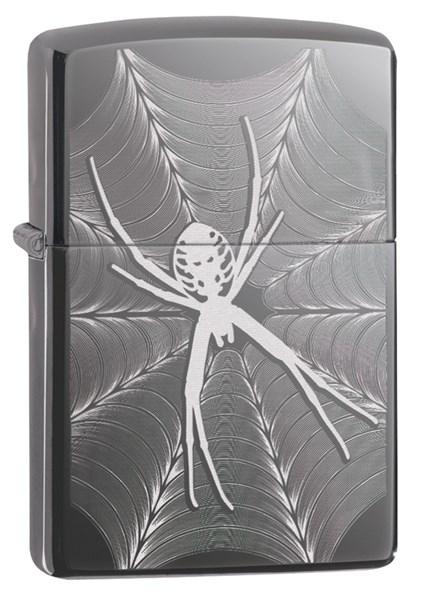 Зажигалка ZIPPO Classic с покрытием Black Ice®, латунь/сталь, чёрная, глянцевая, 36x12x56 мм - фото 184761