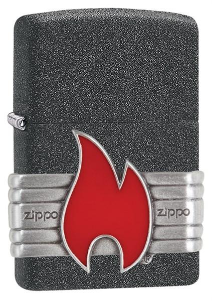 Зажигалка Зиппо (Zippo) Classic с покрытием Iron Stone™, латунь/сталь, серая, матовая, 36x12x56 мм - фото 184766