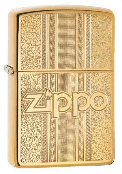 Зажигалка ZIPPO Classic с покрытием High Polish Brass, латунь/сталь, золотистая, 36x12x56 мм - фото 184773