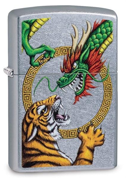 Зажигалка Zippo Dragon Design с покрытием Street Chrome™, 29837 - фото 184842