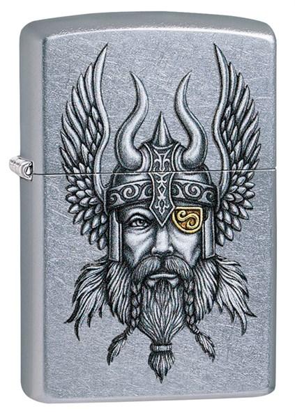Зажигалка Зиппо (Zippo) Viking Warrior с покрытием Street Chrome™, 29871 - фото 184867