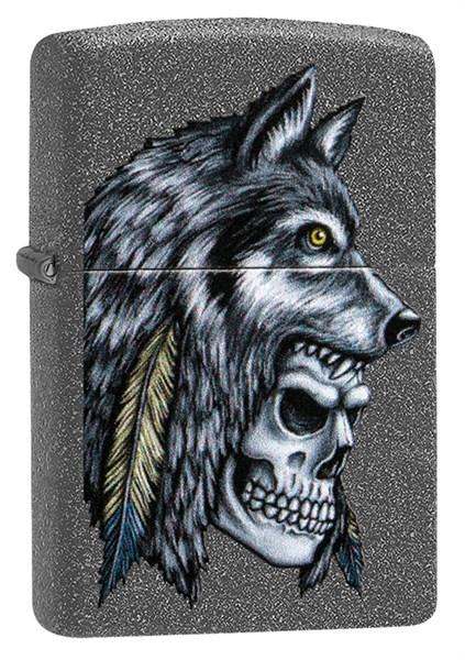 Зажигалка Зиппо (Zippo) Wolf Skull с покрытием Iron Stone™, 29863 - фото 184874