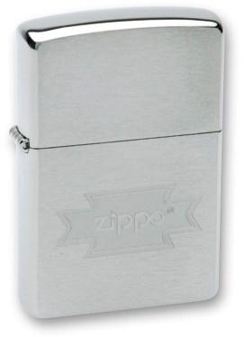 "Зажигалка ZIPPO ""Zippo"", с покрытием Brushed Chrome, латунь/сталь, серебристая, матовая, 36x12x56 мм - фото 184926"