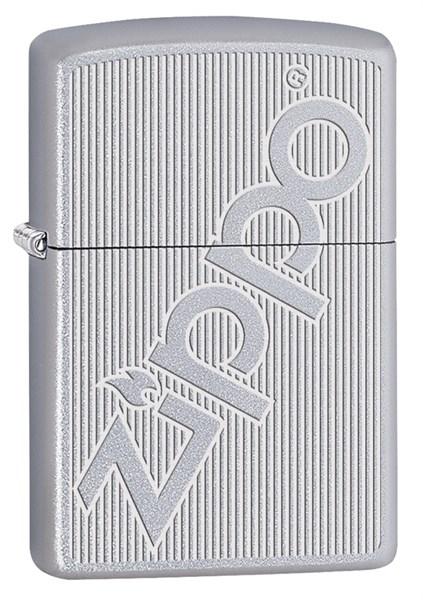 Зажигалка Зиппо (Zippo) с покрытием Satin Chrome, латунь/сталь, серебристая, матовая, 36x12x56 мм - фото 184930