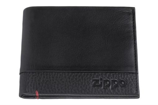 Портмоне Зиппо (Zippo), с защитой от сканирования Rfid, натуральная кожа, 2006022 - фото 184972