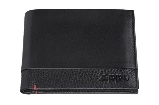 Портмоне Zippo, с защитой от сканирования Rfid, натуральная кожа, 2006023 - фото 184975