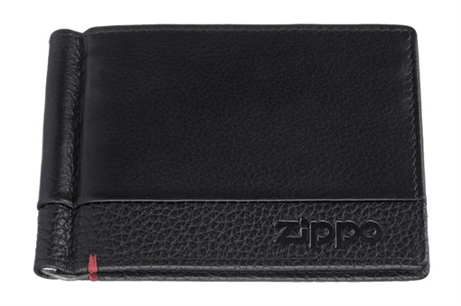 Зажим для денег Зиппо (Zippo), с защитой от сканирования Rfid, натуральная кожа, 2006025 - фото 184982
