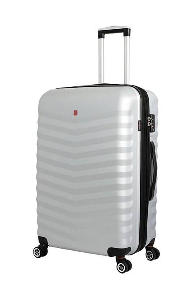 Чемодан SWISSGEAR FRIBOURG, серебристый, АБС-пластик, 45x27x66 см, 64 л - фото 185347