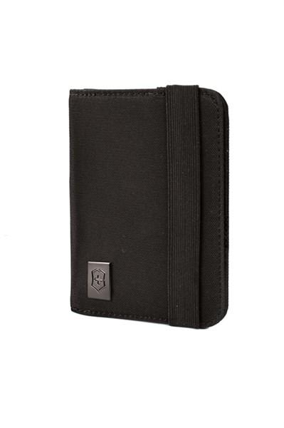 Обложка для паспорта Викторинокс (Victorinox), с защитой от сканирования RFID, чёрная, нейлон 800D, 10x1x14 см - фото 185511