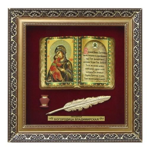 Православное панно Владимирская Богородица бол. багет ПР-01-Б - фото 185932
