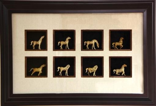 Картина по фен-шуй 8 лошадей успеха XMS-6132-B - фото 185942