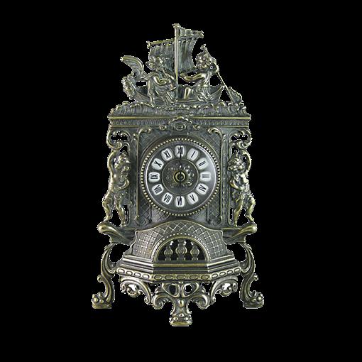Часы Ангелы каминные фасадные, под бронзу AL-82-101-ANT - фото 186109