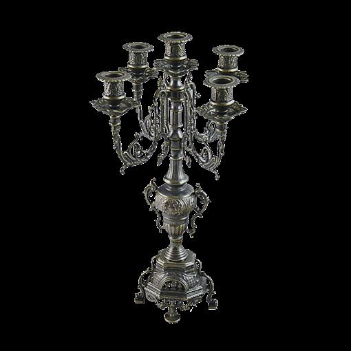 Канделябр Барокко на 5 свечей под бронзу AL-82-102-ANT - фото 186117