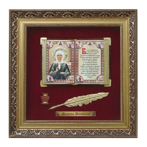 Православное панно Матрона бол. багет ПР-10-Б - фото 186265