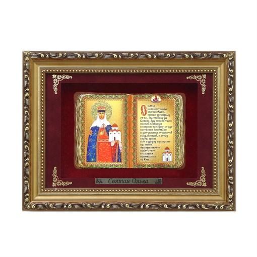 Православное панно Святая Ольга мал. багет ПР-12-М - фото 186273