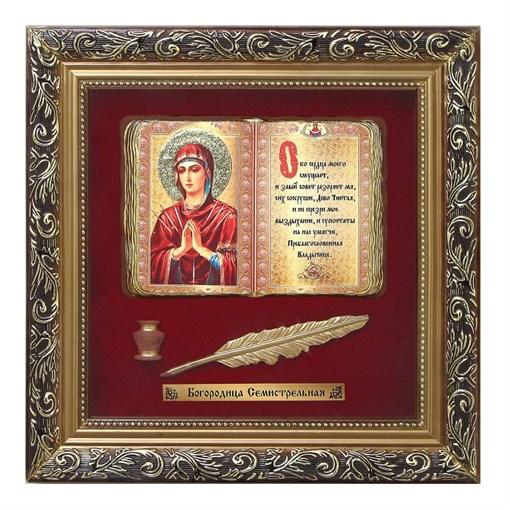 Православное панно Богородица Семистрельная бол. багет ПР-04-Б - фото 186274