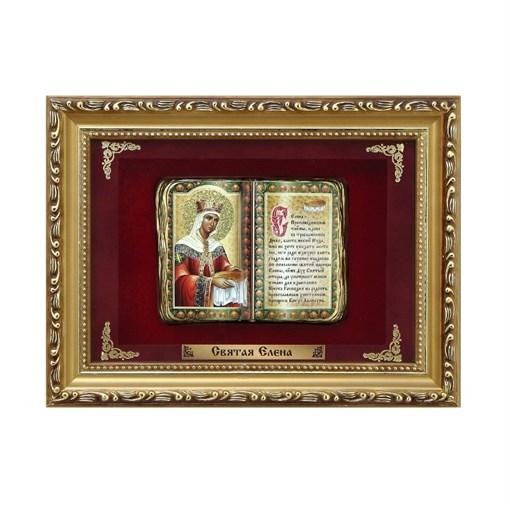 Православное панно Святая Елена мал. багет ПР-13-М - фото 186293