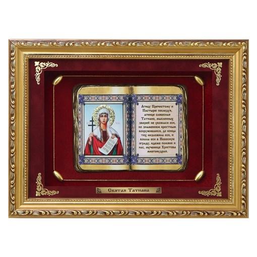 Православное панно Святая Татиана сред. багет ПР-19-С - фото 186341