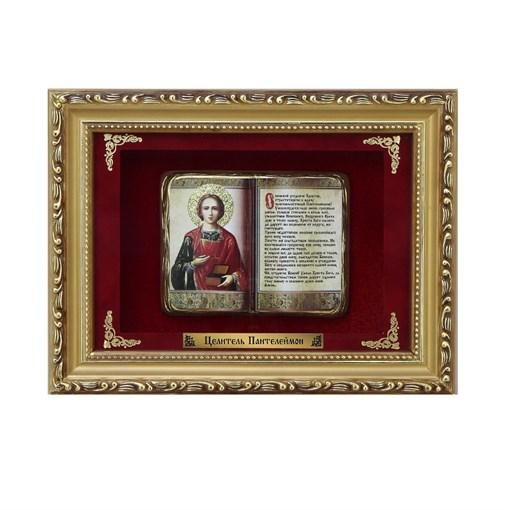Православное панно Пантелеймон Целитель мал. багет ПР-21-М - фото 186346