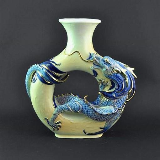 Керамическая ваза ручной работы Дракон GA-BAR-10224-D - фото 186435
