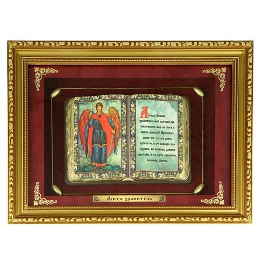 Православное панно Ангел Хранитель сред. багет ПР-23-С - фото 186493