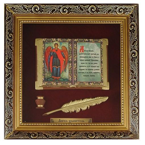 Православное панно Ангел Хранитель бол. багет ПР-23-Б - фото 186494